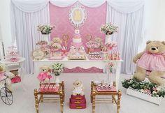 combo decoração ursa coroa chá de bebe