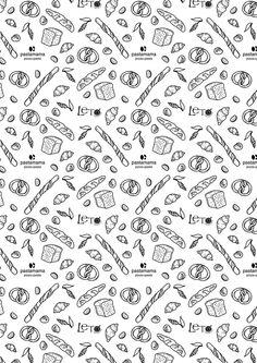 Bread package illustration by Yulya Glushakova, via Behance Fastfood Packaging, Bread Packaging, Paper Packaging, Packaging Design, Branding Design, Bakery Branding, Bakery Logo Design, Bakery Decor, Cupcake Logo
