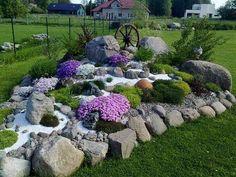 30+ Exciting Rock Garden Landscaping Design Ideas #garden #gardenlandscaping #gardendesignideas