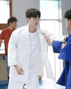 Kdrama, Song Kang Ho, Men In Uniform, Drama Korea, Drama Movies, Asian Boys, Handsome Boys, Chef Jackets, First Love