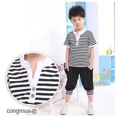 Cungmua - Bộ đồ thun cho bé sọc ngang từ 2 - 5 tuổi - Thiết kế thời trang, kiểu dáng nhỏ nhắn, chất liệu thun cotton mềm mịn, thoáng mát cho bé yêu thêm xinh xắn, đáng yêu và thoải mái mỗi khi vận động. Chỉ 89.000đ cho trị giá 178.000đ.