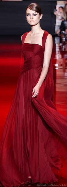 Elie Saab Haute Couture red