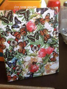 Canvas napkin decoupage . Created by Jo  McKinley