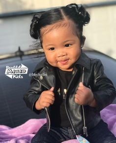 Bailei A'lyse - 10 Months • Vietnamese & African American ♥️ FOLLOW @BEAUTIFULMIXEDKIDS http://instagram.com/beautifulmixedkids