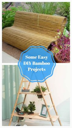 Wonderfull DIY Bamboo Projects #bamboodecoration Diy Home Projects Easy, Diy Home Decor Easy, Diy Garden Projects, Diy Home Crafts, Easy Diy Crafts, Upcycling Projects, Tree Crafts, Jar Crafts, Garden Ideas
