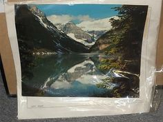 Lake Louise Banff Alberta x Large Photography Picture by Don Harmon Lake Louise Banff, Chateau Lake Louise, Banff Alberta, Alberta Canada, Fairmont Hotel Banff, Banff National Park, National Parks, Vintage Art Prints, Pictures