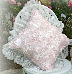 Our new Rose Blush Pillows are here! Hand-made with our signature Pink Taffeta…