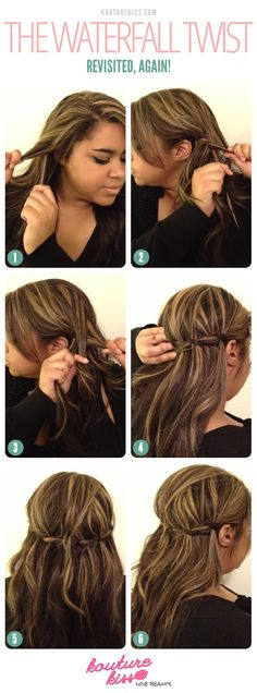 hmmm I could possibly do this with my shorter hair-Kouturekiss - The Waterfall Twist Revisted Again