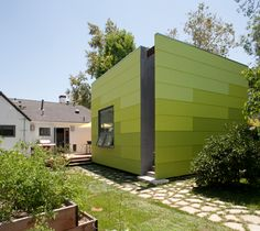 Dwell on Design Avon Residence - Located in Pasadena, the original square foot structure was built in the with a new addition designed by OKB Architecture + Construction. Photos by Tara Wujcik Photography. Green Architecture, Architecture Design, Pale Blue Walls, Dwell On Design, Cottages And Bungalows, Tiny House Movement, House Extensions, Tiny House Living, Types Of Houses