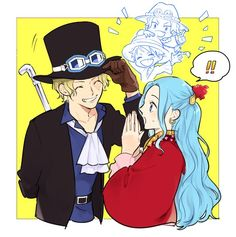 Sabo: Thanks for taking care of my brothers Luffy and Ace. Vivi: A one! One Piece Funny, One Piece Comic, One Piece Fanart, Sabo One Piece, One Piece Ship, One Piece Pictures, One Piece Images, Ace Sabo Luffy, One Piece World