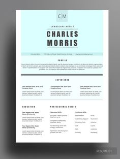 Chic Resume Cover Letter  References Template Package