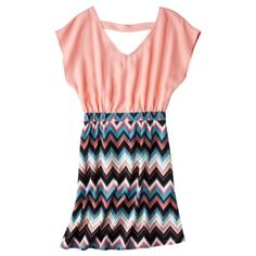 Xhilaration® Juniors Back Dress - Light Coral.