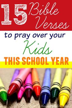 15 Bible Verses to Pray Over Your Kids This School Year - Powerful words from Scripture for the back to school season by lydia Bible Verses For Kids, Encouraging Bible Verses, Bible Encouragement, Kids Bible, Scriptures, Raising Godly Children, Raising Kids, Parenting Humor, Parenting Tips