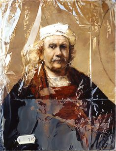 """""""Rembrandt's self portrait in plastic""""  TJALF SPARNAAY GALLERY"""