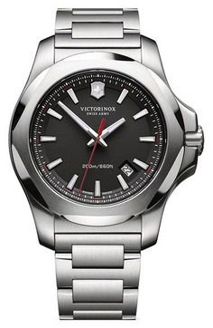 Victorinox Swiss Army® 'Inox' Bracelet Watch, 43mm