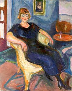 Model in Wicker Chair Edvard Munch - 1924-1925