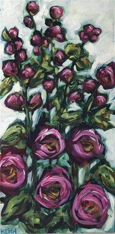 Kandice Keith Gallery of Original Fine Art Flower Painting Canvas, Flower Canvas, Flower Art, Dry Brush Painting, Call Art, Learn Art, Paint Party, Acrylic Art, Art Tutorials