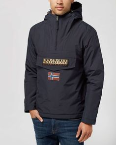 Napapijri Rainforest Hooded Jacket - scotts supply the best clothing, latest footwear and essential accessories from the biggest names in the menswear game.