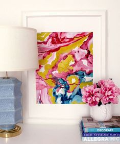 Art/wall Decor - This art print is based on an orginal acrylic and water color painting on canvas. Vibrant jewel tones are combined to create an abstract landscape of colors. Abstract Geometric Art, Abstract Landscape, Wall Decor, Wall Art, Watercolor Artists, Painting Inspiration, Diy Art, Fine Art Prints, Tapestry