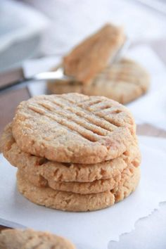 Gluten-Free Peanut Butter Cookies stacked