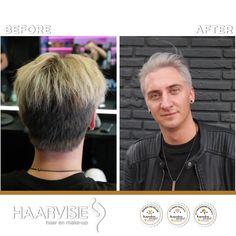 #haarvisie #haircolor #menhairstyle #hairstyles2017 #haarvisierijswijk #olaplex #greyhair #silverhair #mrgrey