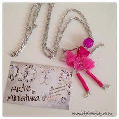 Collana Bambolina Fuchsia Ballerina - Arte in Miniatura