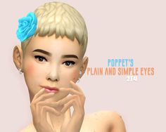 hi! here's some more eye conversions! ٩(^‿^)۶ THESE are my new faves that i've been currently using for ts2 by @poppet-sims! i've just been really into maxis-matchy things lately and these fit perfect with ts4′s aesthetics. defaults only + 1 alien...