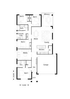 Edge 217 - Hallmark Homes Large Open Plan Kitchens, Hallmark Homes, Alfresco Area, Island Bench, Storey Homes, Walk In Pantry, House Plans, Floor Plans, Construction