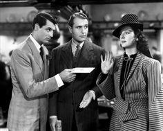 Cary Grant, Ralph Bellamy et Rosalind Russel,