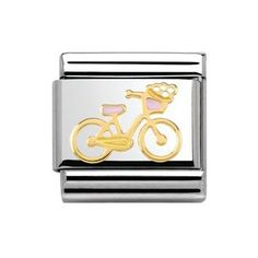 ecdd8f613 NOMINATION Classic 18ct Gold Bicycle Versailles La Vie En Rose Charms  #gracecojewels Nomination Charms,
