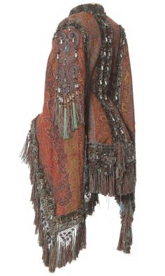 Want to wear this everyday; Visite, France, 1870-80,  Kashmir fringe trimmings.