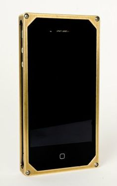 What a pretty brass iphone case. I may just need this for my new iphone.