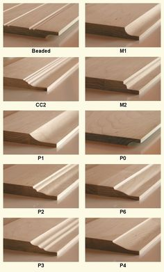 Lesser Seen Options for Custom Wood Interior Doors Door Molding, Moldings And Trim, Moulding, Wooden Door Design, Wooden Doors, Oak Doors, Woodworking Furniture, Woodworking Joints, Cabinet Door Styles