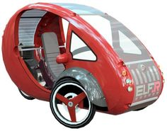 """Hands-On With Organic Transit's Pedal-Solar Electric Hybrid Vehicle, """"The Elf"""" Microcar, Electric Tricycle, Electric Cars, Bikes Direct, Solar Car, Pedal Cars, The Elf, Concept Cars, Inspiration"""