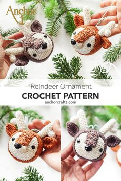 Adorable crochet reindeer Adorable reindeer crochet ornaments designed by - Amigurumi Crochet Christmas Decorations, Crochet Christmas Ornaments, Christmas Tree Design, Christmas Tables, Nordic Christmas, Modern Christmas, Christmas Crafts Sewing, Danish Christmas, Knit Or Crochet
