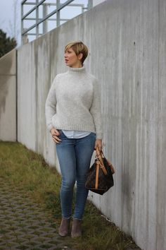 turtleneck sweater - perfect for cold days... Skinny-Jeans and blouse
