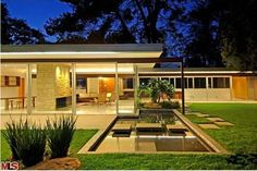 1950s Richard Neutra-designed Singleton House in Los Angeles, California, USA – former home of Vidal Sassoon