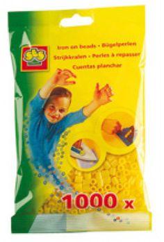 Ses Strijkkralen geel 1000 stuks http://www.strijkkralen-shop.com/ses-strijkkralen-geel-1000-stuks.html