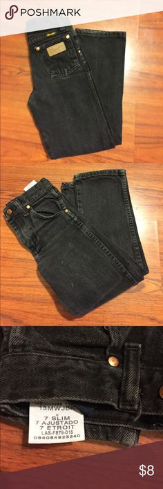Wrangler Boys Black Denim Jeans Size 7 Slim Wrangler Boys Black Denim Jeans Size 7 Slim Wrangler Bottoms Jeans