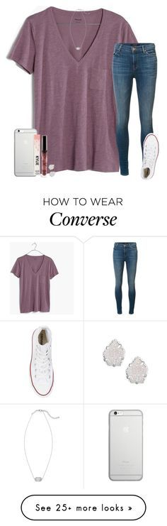 """ootd for tmr"" by ashtongg117 on Polyvore featuring Madewell, J Brand, Converse, Kendra Scott and Native Union"