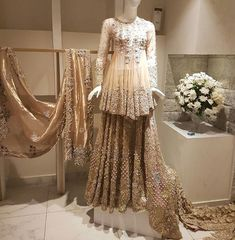 "s bridal collection ""ZOHRA"" on display at Galleria Mall in Lahore right now Bridal Anarkali Suits, Pakistani Wedding Dresses, Bridal Lehenga, Indian Dresses, Bridal Gown, Latest Bridal Dresses, Bridal Outfits, Walima Dress, Eastern Dresses"