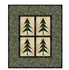 Pine Forest Paper Pieced Foundation Pattern