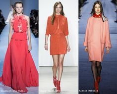 Fall/ Winter 2016-2017 Color Trends: Tangerine & Coral