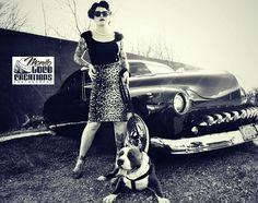 Model: Terry Burkhart  muah: Brittany Conchola  Photographer: Monito Loco  Pitbull: Achilles   Owner: April Douglass
