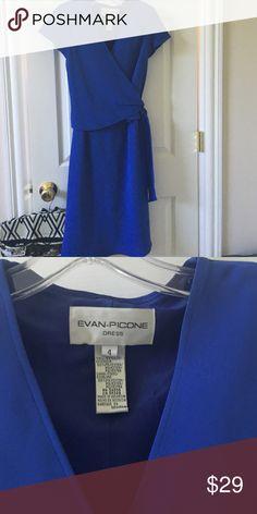 Adorable dress bluish purple So cute, lightweight fabric looks like a wrap, however just ties at waist Evan Picone Dresses Midi