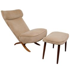 """Mid Century """"Congo"""" Chair and Ottoman by Theo Ruth 