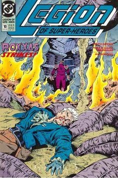 Legion of Super-Heroes (v4) #10 - cover by Keith Giffen & Al Gordon