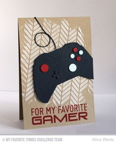 Level Up, Game Controller Die-namics, Diagonal Bars Stencil - Alice Wertz #mftstamps