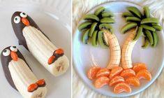 Lav bananer om til delfiner, palmer og pingviner, og server sommerens sødeste snacks. Chocolate Fundido, Food Humor, Funny Food, Food And Drink, Childhood, Banana, Dining, Cooking, Desserts