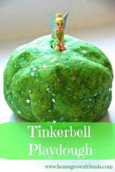 What a fun idea for Tinkerbell Playdough!
